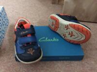 Boys 8.5F Clarks shoes