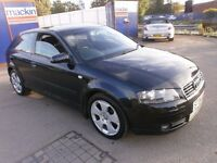 2004 AUDI A3 2.0 TDI SPORT 3DOOR,NEW CABELT KIT, FULL SERVICE HISTORY, CLEAN CAR, DRIVES LIKE NEW