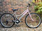"""Girls ladies pink bike 16"""" frame"""