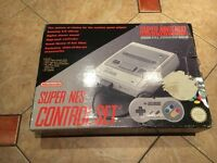 Nintendo Super NES console, 2 controllers and 2 games all in original box