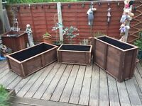 Garden Trough Flower or Vegetable Planters - Tall version - hand Made from wood - Large