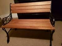 Antique cast iorn bench