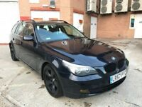 57 PLATE BMW 520D AUTO LCI TOURING E60 BLUE S/HISTORY VERY CLEAN NOT 318D 320D 525D 535D X3 X5 GOLF
