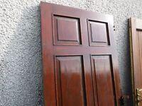 Solid Mahogany Exterior Door