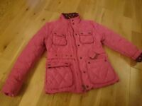NEXT Girls Pink Belted Coat 7-8 Yrs - Perfect for Christmas :)