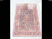 """Quality Hand Made Persian Design Rug With Symmetric Foliate Design 80""""L 52""""W"""