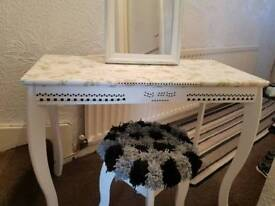 Little Girls Dressing Table With Stool