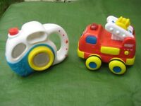 VTECH Wobbly Wheels Toy Fire Engine and A Play Camera for Young Children - £3.00 each or 2 for £5.00