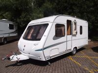 Abbey Aventura 4 berth caravan, fixed double bed, motor mover, everything you will need included