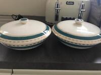 Crown ducal pots vintage