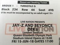 Tickets in hand ON THE RUN 2 London 15/06