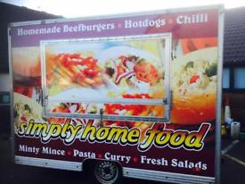 Catering trailer with a pitch