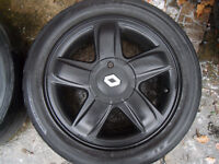 """Renault 15"""" Alloy Wheels With Tyres 185/55/15"""