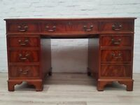 Leather Bound Desk (DELIVERY AVAILABLE FOR THIS ITEM OF FURNITURE)