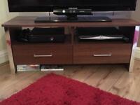Dark Wood TV Unit
