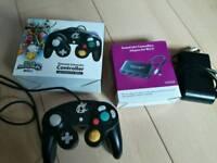 WiiiU controller and gamecube adapter