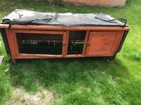 USED rabbit hutch & all year round covers