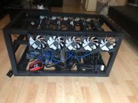 6x RX580 8GB Mining Rig + Extras - ASUS Strix, Sapphire, ETH, ZEC, XMR, Crypto