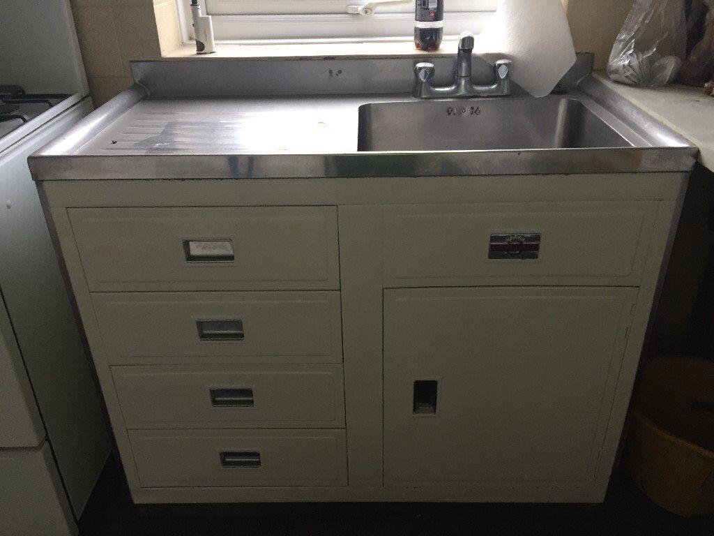 Original Paul Dovedale vintage kitchen sink unit in good condition ...