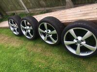 Wolfrace alloys 17 inch x 7 4 stud - set of 4
