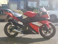 Yamaha YZF R125 (2009 | Red & White | 11948 Miles | Logbook | MOT Until May 2019)