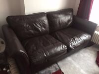 Two Sofa's for sale Brown leather