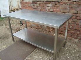 1500mm x 750mm Stainless Steel Prep Table with Undershelf