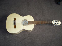 Solid spruce top 3/4 size classical guitar