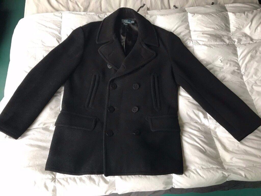 Ralph Lauren 100% Wool Coat XL MENS (worn twice)