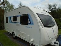 2012 swift alpine 4 fixed bed,with motor mover
