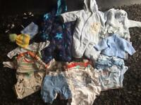 0-3 month baby boy clothes bundle