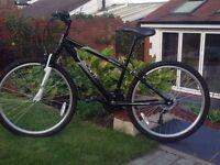 """Apollo Slant mountain bike. 14"""" frame, 26"""" wheels. 18 gears."""