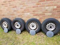 Vito steel wheels and tyres with bolts