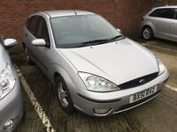 Ford Focus 1.6cc--11 months mot,service history,alloys,central lock,cd,ac,excellent runner,clean car