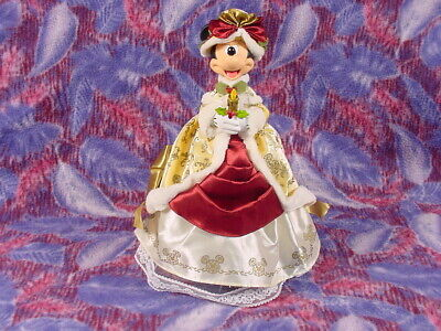 RARE 2010 WALT DISNEY Victorian Ivory & Gold MINNIE MOUSE Christmas Tree Topper