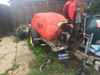 BOWSER / YANMAR DIESEL PRESSURE WASHER Jetwash with extras 60 meters hose/more
