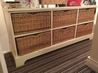 Set of solid wood basket drawers