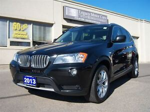 2013 BMW X3 Leather/Pano Roof/Rear Camera/P.Tailgate