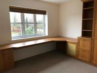 Oak Fitted Office Furniture