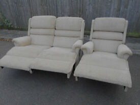 Lounge recliner furniture SHERBORNE 2 seat sofa + chair