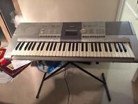 Yamaha PSR-295 electric keyboard with free stand