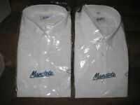 Two Brand New White Mandate Short Sleeve Shirts - £5.00 each