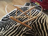 Foldable Moses basket stand brand new