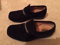 Yves Saint Laurent black suede shoes size 8