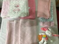 Huge baby girl bundle 0-3 months plus blankets