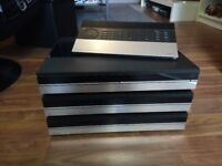 B&O Beomaster 6500 tuner/amp, Beogram CD 6500, Beocord 6500 Tape Deck and Master control panel 6500