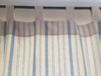 Blue and white curtains from ZARA HOME