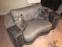 SCS Black & Grey Two Seater Sofa