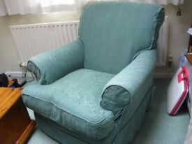 House of Fraser Armchair to use, upcycle, re upholster from a pet free, smoke free home