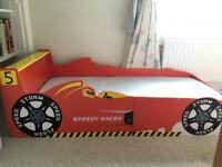Wooden racing car bed